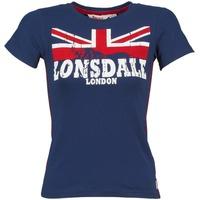 Υφασμάτινα Γυναίκα T-shirt με κοντά μανίκια Lonsdale ERYKAH μπλέ