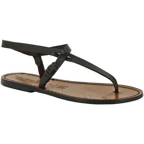 Παπούτσια Γυναίκα Σανδάλια / Πέδιλα Gianluca - L'artigiano Del Cuoio 592 D MORO CUOIO Testa di Moro