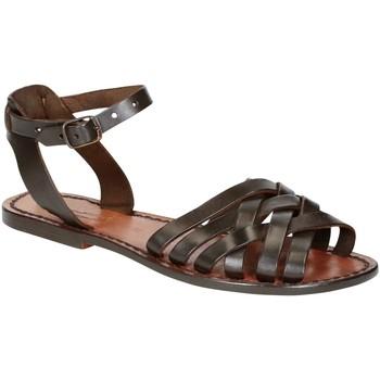 Παπούτσια Γυναίκα Σανδάλια / Πέδιλα Gianluca - L'artigiano Del Cuoio 595 D MORO CUOIO Testa di Moro