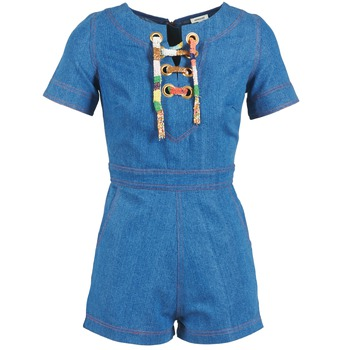 Υφασμάτινα Γυναίκα Ολόσωμες φόρμες / σαλοπέτες Manoush LACET Μπλέ / Jean