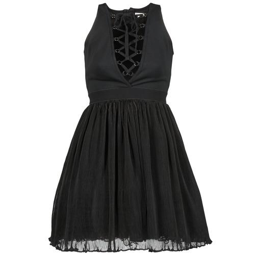 Υφασμάτινα Γυναίκα Κοντά Φορέματα Manoush MARILACET Black
