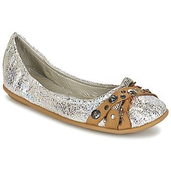 Παπούτσια Γυναίκα Μπαλαρίνες Regard SOLI Argenté / Beige
