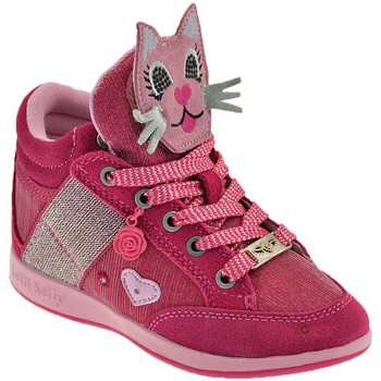 Παπούτσια Παιδί Ψηλά Sneakers Lelli Kelly Gattino Rosa