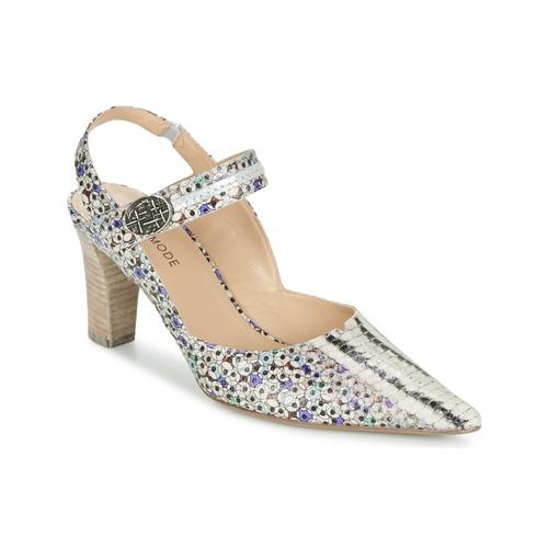 Παπούτσια Γυναίκα Σανδάλια / Πέδιλα France Mode NATIVE Multicolore / μπλέ