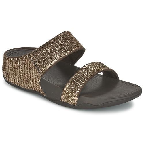 Παπούτσια Γυναίκα Τσόκαρα FitFlop LULU SUPERGLITZ SLIDE Bronze
