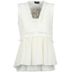 Υφασμάτινα Γυναίκα Αμάνικα / T-shirts χωρίς μανίκια Kookaï VACHOVA άσπρο