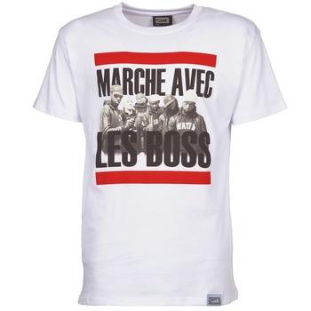 Υφασμάτινα Άνδρας T-shirt με κοντά μανίκια Wati B BOSS Άσπρο