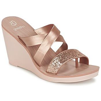 Παπούτσια Γυναίκα Σανδάλια / Πέδιλα Grendha PARADISO II PLAT ροζ / Μεταλικό