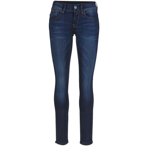 Υφασμάτινα Γυναίκα Skinny jeans G-Star Raw LYNN MID SKINNY Slander / Mπλε / Superstretch / Medium / Aged