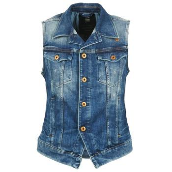 Υφασμάτινα Γυναίκα Τζιν Μπουφάν/Jacket  G-Star Raw 3302 JKT S/LESS WMN μπλέ /  CLAIR