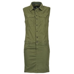 Υφασμάτινα Γυναίκα Κοντά Φορέματα G-Star Raw ROVIC SLIM DRESS WMN S/LESS Kaki