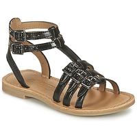 Παπούτσια Κορίτσι Σανδάλια / Πέδιλα Shwik LAZAR BUCKLE Black
