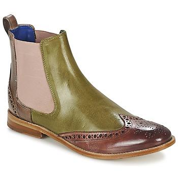 Παπούτσια Γυναίκα Μπότες Melvin & Hamilton AMÉLIE 5 Green / ροζ / Beige