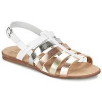 Παπούτσια Κορίτσι Σανδάλια / Πέδιλα Citrouille et Compagnie PEQUEBELLO Άσπρο / Dore