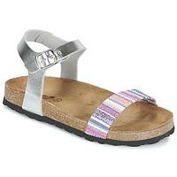 Παπούτσια Κορίτσι Σανδάλια / Πέδιλα Citrouille et Compagnie IGUANA Argenté / Multicolore