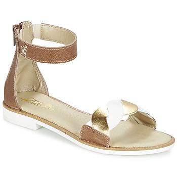 Παπούτσια Κορίτσι Σανδάλια / Πέδιλα Citrouille et Compagnie MINIMAZA CAMEL / DORE