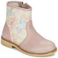 Παπούτσια Κορίτσι Μπότες Citrouille et Compagnie OUGAMO LIBERTY ροζ / Flowercolor