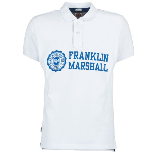 Υφασμάτινα Άνδρας Πόλο με κοντά μανίκια  Franklin & Marshall AYLEN Άσπρο