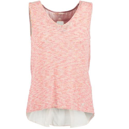 Υφασμάτινα Γυναίκα Αμάνικα / T-shirts χωρίς μανίκια Les Petites Bombes NODOLA Corail