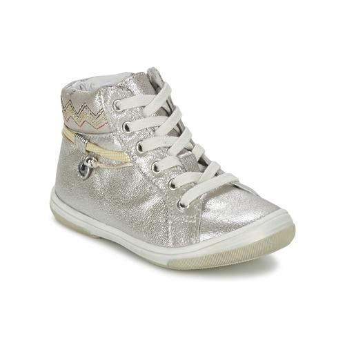Παπούτσια Κορίτσι Ψηλά Sneakers Catimini CALLUNA Beige / Argenté