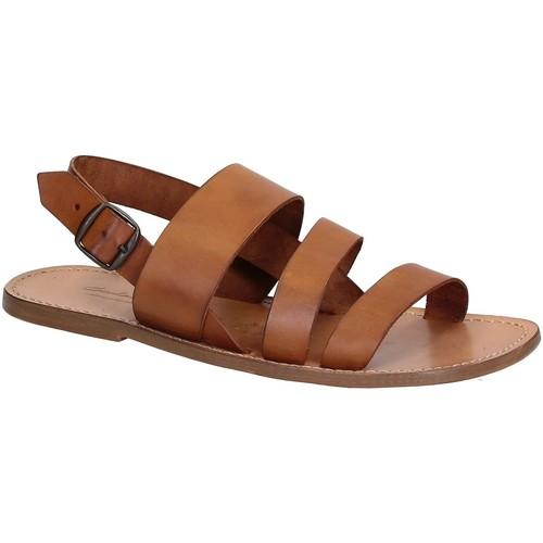 Παπούτσια Άνδρας Σανδάλια / Πέδιλα Gianluca - L'artigiano Del Cuoio 507 U CUOIO CUOIO Cuoio