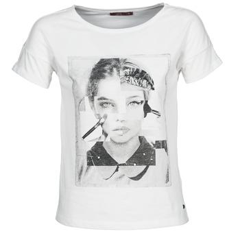 Υφασμάτινα Γυναίκα T-shirt με κοντά μανίκια Esprit NEW PRINT SHIRT Άσπρο