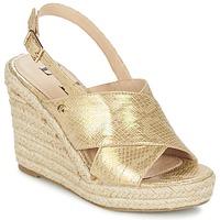 Παπούτσια Γυναίκα Σανδάλια / Πέδιλα Elle CAMPO Beige / Gold