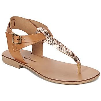 Παπούτσια Γυναίκα Σανδάλια / Πέδιλα Betty London VITALLA Camel / Ροζ