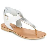 Παπούτσια Γυναίκα Σανδάλια / Πέδιλα Betty London VITALLA Argenté / άσπρο