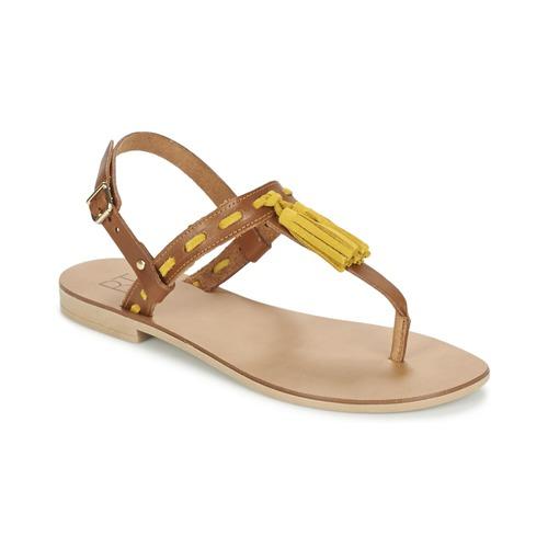 Παπούτσια Γυναίκα Σανδάλια / Πέδιλα Betty London ELOINE Brown / Yellow
