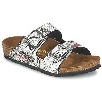 Παπούτσια Αγόρι Τσόκαρα Birkenstock ARIZONA Black / Άσπρο