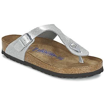 Παπούτσια Γυναίκα Σαγιονάρες Birkenstock GIZEH Silver