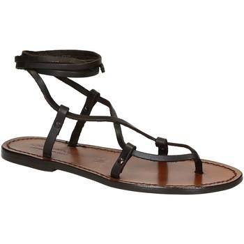 Παπούτσια Γυναίκα Σανδάλια / Πέδιλα Gianluca - L'artigiano Del Cuoio 518 D MORO CUOIO Testa di Moro