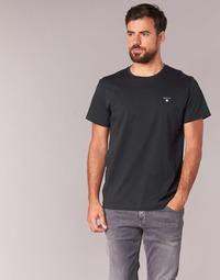 Υφασμάτινα Άνδρας T-shirt με κοντά μανίκια Gant THE ORIGINAL SOLID T-SHIRT Black