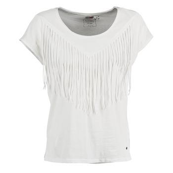Υφασμάτινα Γυναίκα T-shirt με κοντά μανίκια Mustang FRINGE άσπρο