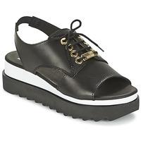 Παπούτσια Γυναίκα Σανδάλια / Πέδιλα Love Moschino BASIC SANDAL Black / Άσπρο