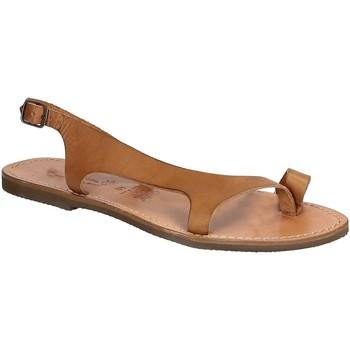 Παπούτσια Άνδρας Σανδάλια / Πέδιλα Gianluca - L'artigiano Del Cuoio 526 D CUOIO GOMMA Cuoio