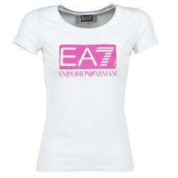 Υφασμάτινα Γυναίκα T-shirt με κοντά μανίκια Emporio Armani EA7 BEAKON άσπρο