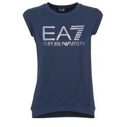 Υφασμάτινα Γυναίκα T-shirt με κοντά μανίκια Emporio Armani EA7 ANDROUL Marine