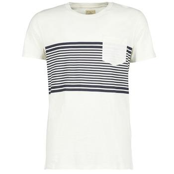 Υφασμάτινα Άνδρας T-shirt με κοντά μανίκια Selected LIAM Άσπρο