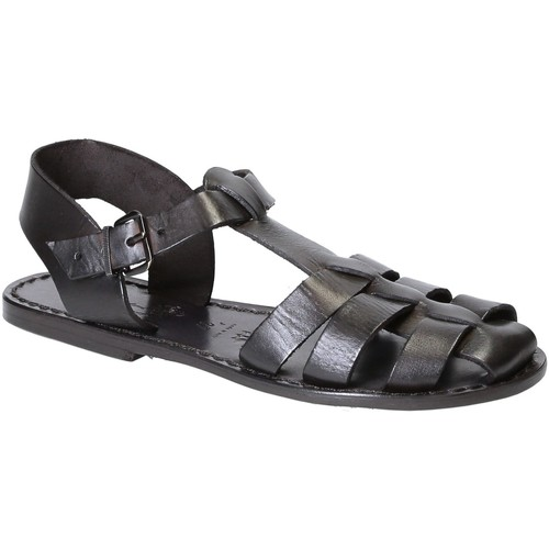 Παπούτσια Γυναίκα Σανδάλια / Πέδιλα Gianluca - L'artigiano Del Cuoio 501 D NERO CUOIO nero