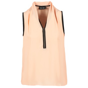 Υφασμάτινα Γυναίκα Μπλούζες Only FIA ZIP Orange / Pastel / Black
