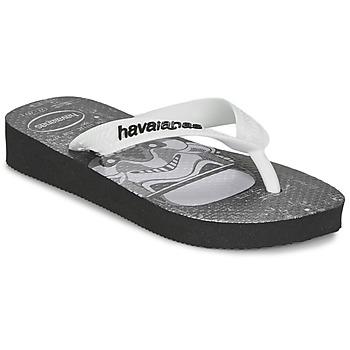Παπούτσια Αγόρι Σαγιονάρες Havaianas STAR WARS Black / Άσπρο