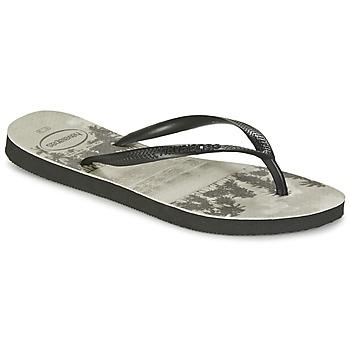 Παπούτσια Γυναίκα Σαγιονάρες Havaianas SLIM PHOTOPRINT Black / Grey