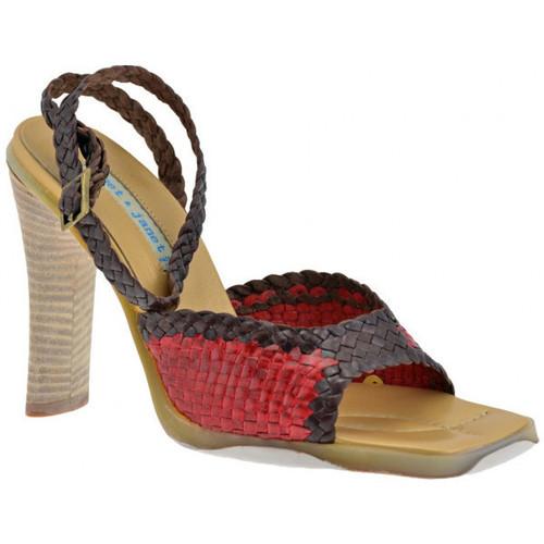 Παπούτσια Γυναίκα Σανδάλια / Πέδιλα Janet&Janet  Red