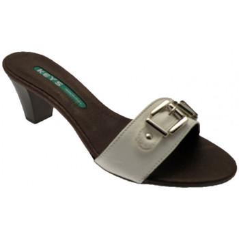 Παπούτσια Γυναίκα Τσόκαρα Keys  Άσπρο