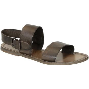 Παπούτσια Γυναίκα Σανδάλια / Πέδιλα Gianluca - L'artigiano Del Cuoio 500 D FANGO CUOIO Fango