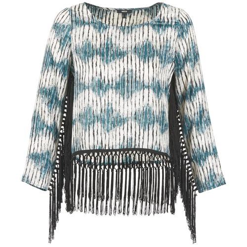 Υφασμάτινα Γυναίκα Μπλουζάκια με μακριά μανίκια Mexx AMBRELI Μπλέ