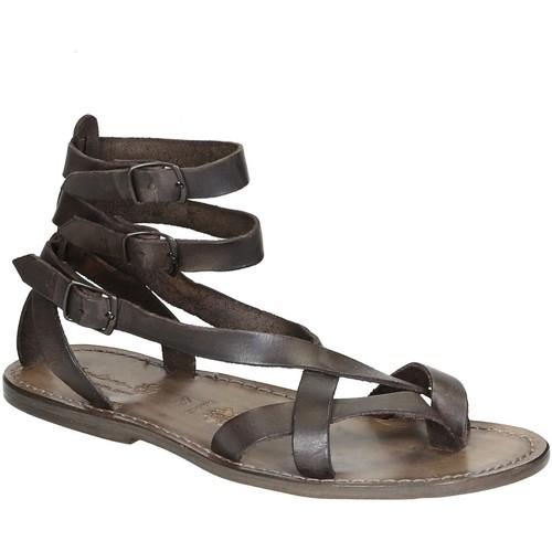 Παπούτσια Γυναίκα Σανδάλια / Πέδιλα Gianluca - L'artigiano Del Cuoio 564 U FANGO CUOIO Fango
