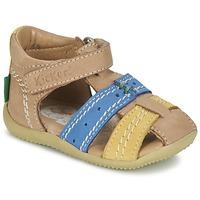 Παπούτσια Αγόρι Σανδάλια / Πέδιλα Kickers BIGBAZAR Beige / μπλέ / Yellow